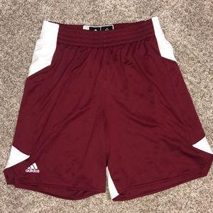 Adidas burgundy basketball shorts